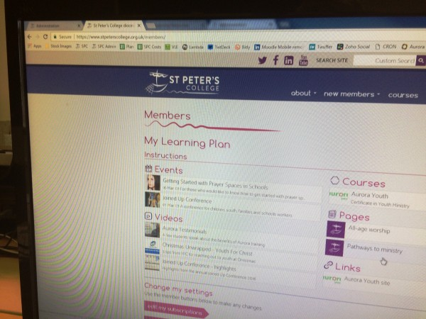 'My Learning Plan' launched today on St Peter's website