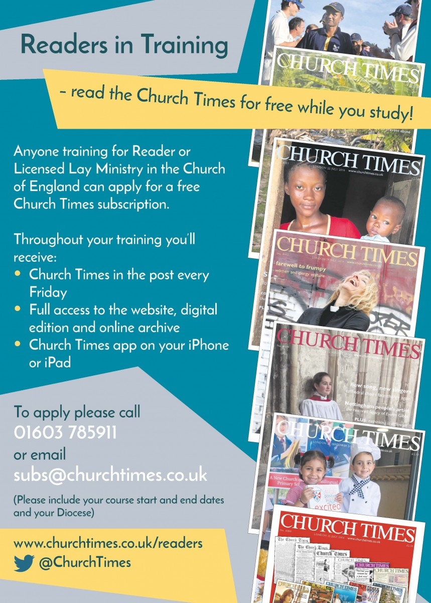 Church Times - ​Readers in Training subscription offer