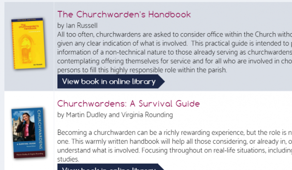 Churchwarden publications from the Resource Centre